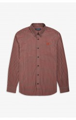 Fred Perry crimson checked shirt