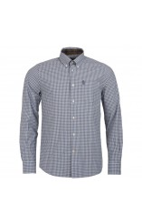 Barbour grey checked shirt