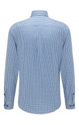Fynch Hatton gingham blue shirt