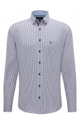 Fynch Hatton navy button down shirt