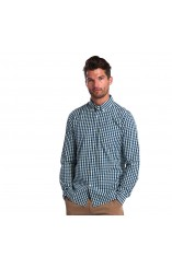 Barbour checked blue shirt