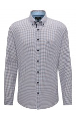 Fynch Hatton blue brown shirt