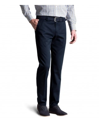 Meyer navy cotton trousers