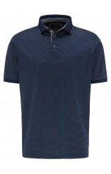 Fynch Hatton micro dot mercerized polo shirt